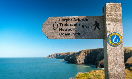 Wales | Wales Coast Path and Pembrokeshire Coast Path sign
