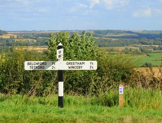 Engeland Lincolnshire_lincolnshire wolds view of the landscape